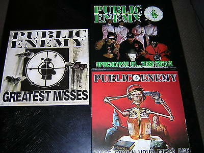 3 Public Enemy Album Sleeves - Apocalypse 91 +2