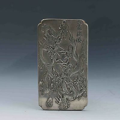 Chinese Collection Tibet Silver Hand Carved Chinese Kowloon play beads Pendant