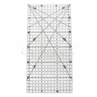 "Home Sewing Projects Quilting Patchwork Ruler Acrylic Tailor Scale 11.82""x5.91"""