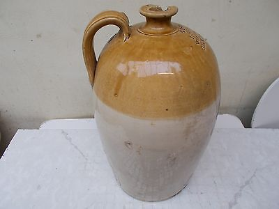 Large earthenware/ stoneware glazed flagon