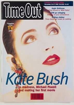 Kate Bush - Time Out Nov 10-17 1993 London weekly mag Angie Dickinson *Free ship