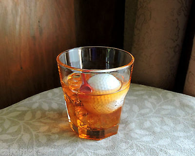 Golf Ball Fake Food Glass Whiskey Red Tee Hand Crafted Faux Food Photo Prop