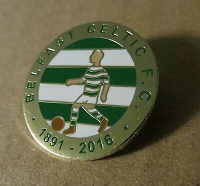 Belfast Celtic Fc 125th Anniversary Pin Badge