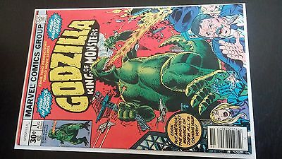 Godzilla #1 Comic Book 1St Appearance Of Godzilla Key 1977  Bronze Age Marvel