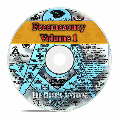 Freemason Secret Society Knights Templar Masonic Library 650 Books Vol 1 DVD F49