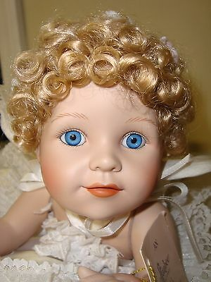 "Effanbee P-228 ""Gabriel"" Porcelain Doll with Cloud Pillow"
