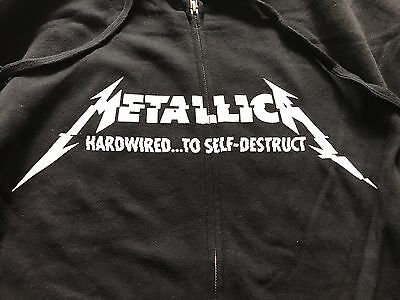 """Metallica """"Hardwired to Self Destruct"""" Hoodie Official Small Brand New Kids"""