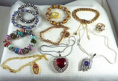 Bulk lot, Imitation Gemstone, 925 Silver, Gold plate, Beads, Jewellery X11