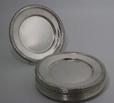 Dunkirk Silversmiths Sterling Silver Plates set of 12
