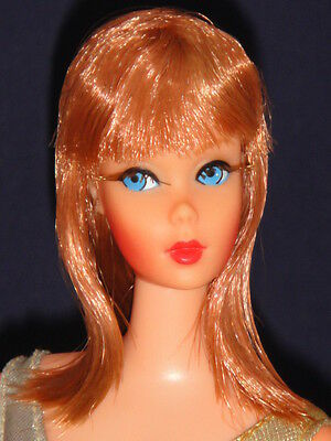 Vintage Living Barbie - Titian Redhead In Original Swimsuit High Color - 1970's