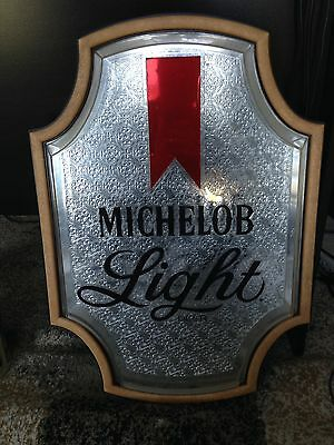 Michelob Light Reflective COLLECTIBLE BEER BAR SIGN