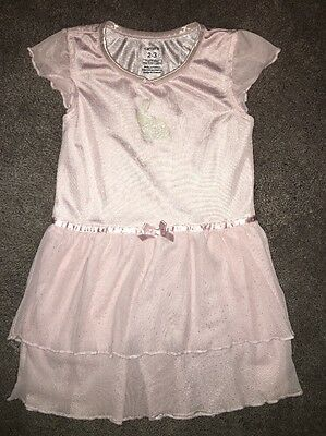 Carters Girls Size 2-3 Nightgown Pink With Bunny