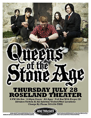 QUEENS OF THE STONE AGE 2011 Gig POSTER Portland Oregon Concert