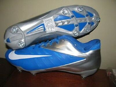 New Nike Vapor Pro Low Football Cleats Blue/Silver Size 11.5 544760-411