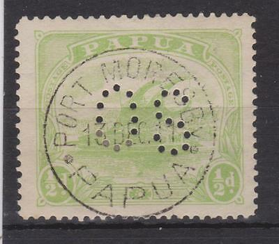 Papua 1/2d Postage stamp OS Perf
