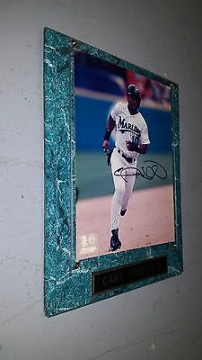 Gary Sheffield Florida Marlins Signed 8x10 Photo Plaque Genuine MLB Merchandise