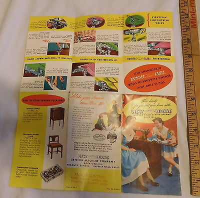 vintage New Home Sewing Machine Brochure printed in USA