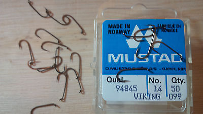 Mustad 94845, Dry Fly, Barbless, Size 14, Package of 50, Fly Tying Hooks