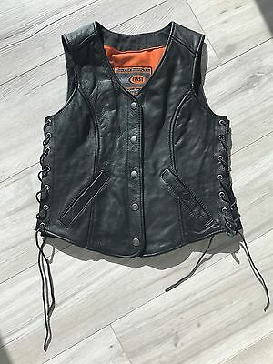 Leather Vest Ladies Small Motorcycle