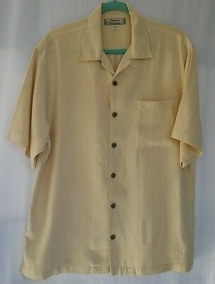 MENS TOMMY BAHAMA 100% SILK S/S BUTTON DOWN CAMP SHIRT Size M