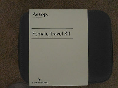 NEW Cathay Pacific First Class AESOP Amenity Female Kit