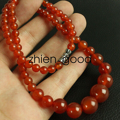 China fashionable noble red agate Chalcedony jade bead necklace