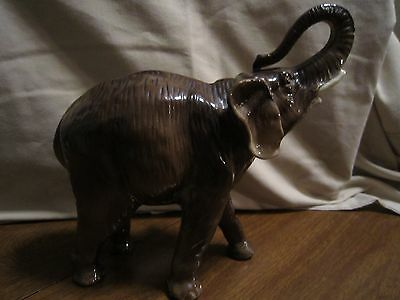 Vintage Porcelain Elephant Made in Gremany # 6780 Repaired Leg Still Nice!