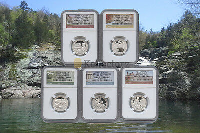 2017 S Silver Quarters Set America The Beautiful Proof Ngc Pf69 Early Releases