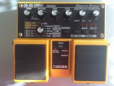 Boss OD-20, Overdrive, Distortion, Fuzz, Octave, 22 Effect Models, Memory & Manu