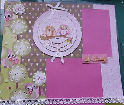 Lovely Handmade 12 X 12 Scrapbook Page My Sweety