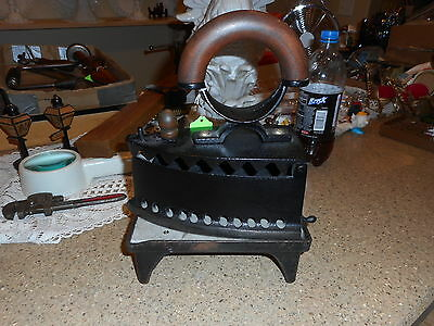 vtg charcoal iron no.5 with stand