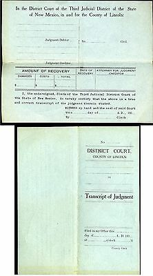 West- New Mexico – Lincoln County Court Document