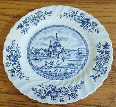 """Johnson Brothers England TULIP TIME BLUE WHITE BACKGROUND 8"""" Salad Plate"""