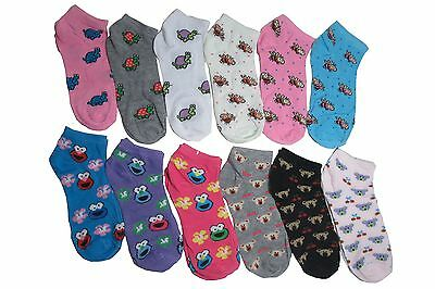 New Lot 12 Pairs Womens Ankle Socks Multi Color Fashion Size 9-11 Frog Bear