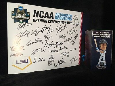2017 College World Series Signed Poster LSU Team Autographs