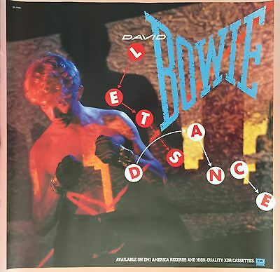 David Bowie Lets Dance Oversized Promotional Poster EMI America Issue