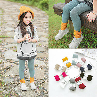 2pairs Basic Baby Girl's Cotton Tights Children's Soft Warm Pantyhose for 2-10ys