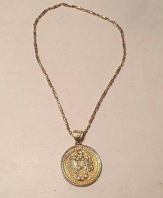 50 Cent Bling Gold Necklace Round Pendant G-Unit