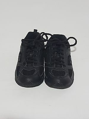Circuit Boys Youth Black Shoe Lace Athletic Runners Sneakers Size 2