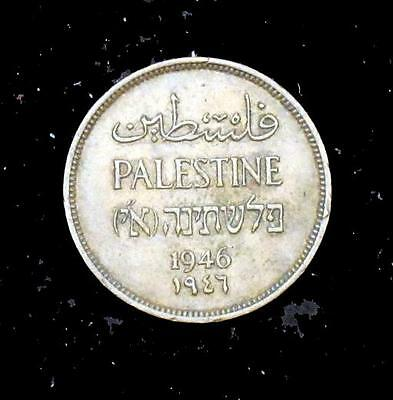 1946 About Uncirculated (AU) Palestine Bronze 1 Mil