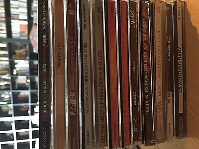 Cd Bulk Buy Of 12 U2 Red Hot Chilli Peppers Ac/dc The Living End Madonna & More