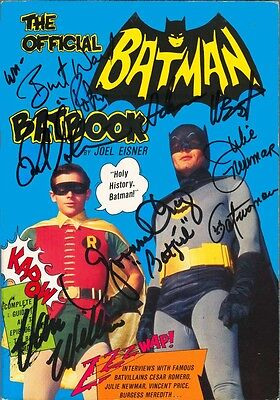 OFFICIAL BATMAN BATBOOK signed by Adam West, Frank Gorshin, Yvonne Craig & more!