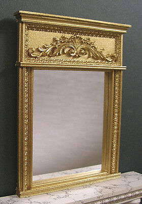 FRENCH  FIREPLACE OVERMANTLE  MIRROR~ 1:12th scale ~Dollhouse Miniatu ~ Room Box