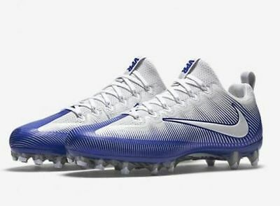 Nike VPR Vapor Untouchable Pro PF Football Cleats Blue White 839924 409 RARE SZ