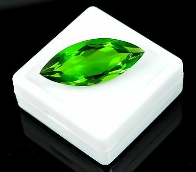 31.30 Ct Ebay Certified Marquise Cut Green Topaz Loose Gemstone-FATHER'S DAY