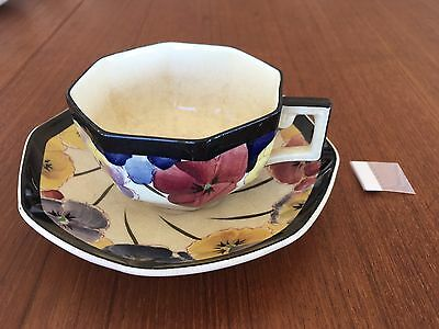 Stunning Royal Doulton Pansy Cup & Saucer  D4049