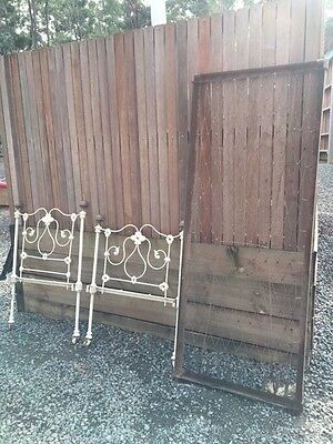Victorian Childs cast iron bed