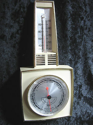 Vintage Plastic or Bakelite Thermometer Barometer Made By Taylor USA