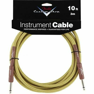 Fender 099-0820-028 Custom Shop Performance Series 10 Ft Instrument Cable, Tweed
