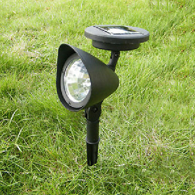 3-LED Solar Spotlight Lamp Outdoor Garden Yard Landscape Lawn Light Waterproof